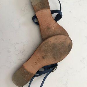 Antik Batik Shoes - Antik Batik Navy Jeweled thong sandals